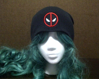 Deadpool inspired beanie skull cap
