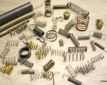 Springs - Crafting Supplies - Salvaged - Set of 50 - Mixture of Sizes - Coiled Springs - Junk Art Supplies