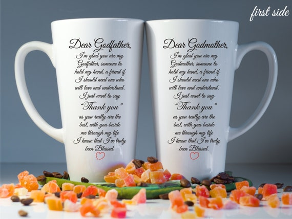 Godmother Gift Goddaughter Gift Long Distance Gift: Godparents Mugs Godparents Gift Godmother Gift Christening