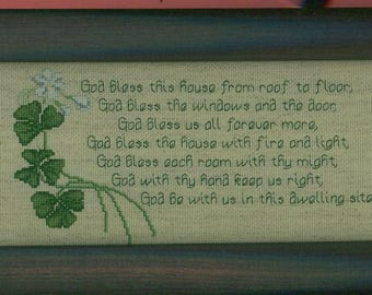 Irish House Blessing Framed Cross-stitch
