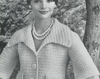 CROCHET PATTERN Vintage Shortie Jacket Instant Download PDF