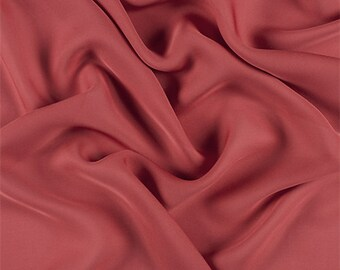 Antique Red Silk Double Georgette, Fabric By The Yard