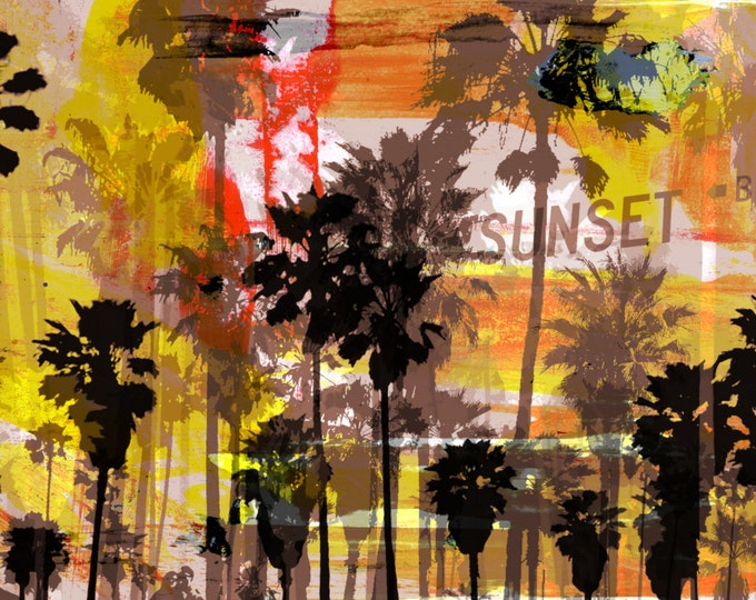 VENICE BEACH II by Sven Pfrommer - 140x70cm Artwork is ready to hang.