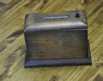 Vintage Wood Cigarette Dispenser