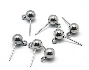 10 ear Stud round heads stainless 1.6 cm