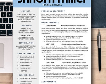Dental Resume Template Instant Download For Mac U0026 PC, Cover Letter Templates  Word, Health