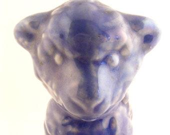 Vintage Planter Vase Blue Lamb Ceramic Sheep Easter