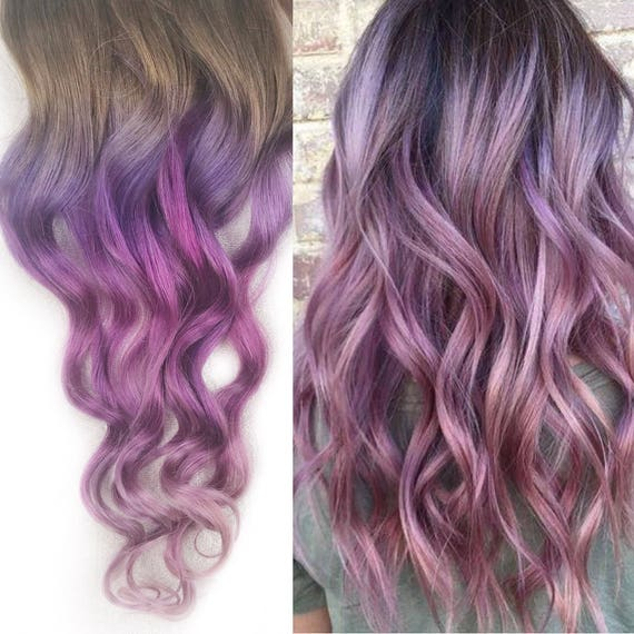 Pale Mauve Muted Rose Hair Extensions Clip In Pastel Hair