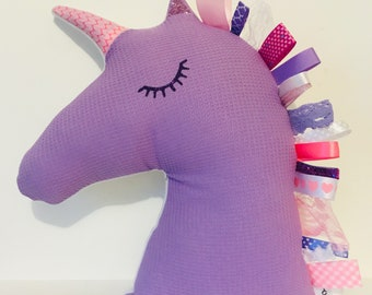 Pink and purple Unicorn pillow