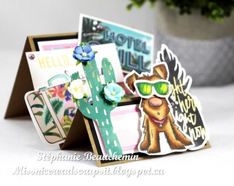 Puppy with sunglasses Card
