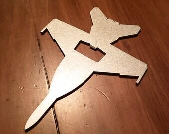 F-18 E/F Super Hornet Rhino Steel Aircraft Bottle Opener - Aviation - Pilot Gift