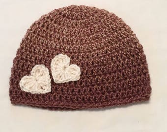 Ombre Heart Hat
