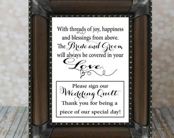 Please Sign Our Wedding Quilt, Guest Book, Wedding Guest Book. Instant Download, Wedding Card DIY Printable File. Wedding Signs, please sign