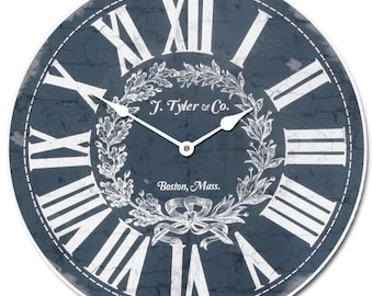 Manor House Blue Wall Clock