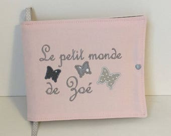 Photo album for baby cloth (scheduled for 10 photos 10 X 15) personalized with name