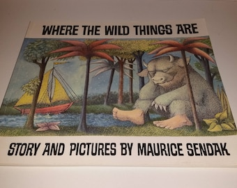 Where the Wild Things Are / 1991 / Softcover Book / Maurice Sendak / Softback / Softcover / Wild Things / Book / Children's Book / CIJ /Sale