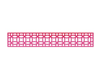 Sizzix Sizzlits Decorative Strip Die - Interlocking Circles 658001