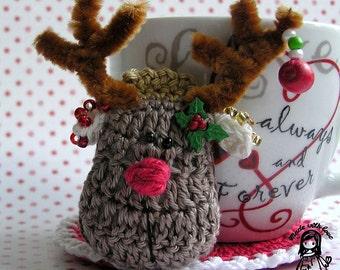 Crochet pattern - Christmas reindeer by VendulkaM/ Kitchen table / Digital pattern