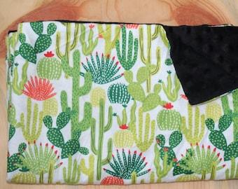 Cactus Baby Blanket- Gender Neutral- Minky Baby Blanket- Baby Shower Gift