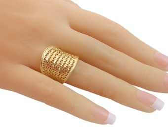 Lace ring GOLD Filled Ring, filigree gold ring, lace ring gifts for women