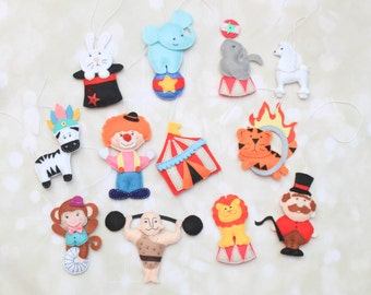 Circus characters Carnival ornament circus animals poodle plush Circus ornaments strongman clown plush circus decorations carnival party