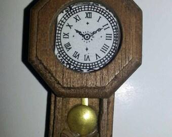 Miniature Dollhouse Wall Clock