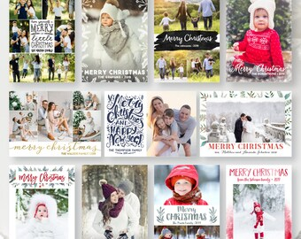 Photo Christmas Cards from The Papered Wedding
