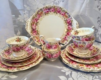 English Bone China. Serena pattern teacups dessert plates cake & China   Etsy
