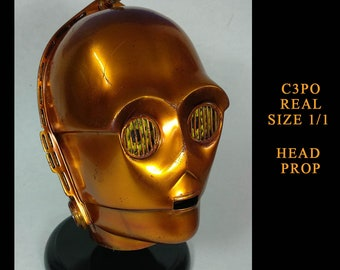 Star Wars C3PO Real Size Gold Chrome Weathered Version 1:1 Scale Prop