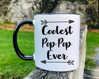 Coolest Pop Pop Ever - Mug - Pop Pop Mug - Pop Pop Gift - Gifts For Pop Pop