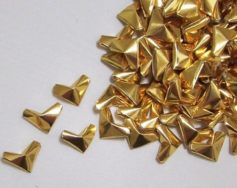 Small Origami Hearts (100) Gold Foil Paper