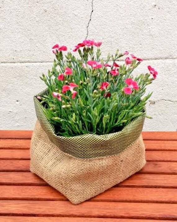 Jute gardening pot waterproof planter basket extra strong workwithnaturefo
