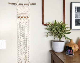 Woven and beaded macrame
