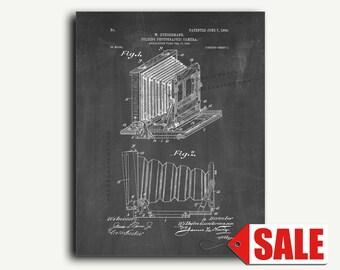 Patent Art - Folding Photographic Camera Patent Wall Art Print