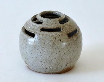 Modernist Studio Pottery Ikebana Orb Vase
