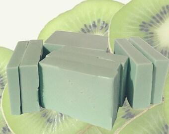 Handmade Kiwi scented Bar Soap