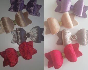 Crushed velvet bows