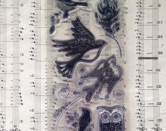 Birds of a Feather - Stamp Set, Whimsical, Henna, Planners, Card Making, Paper Crafts, Art Journal, Stationary, Recollections