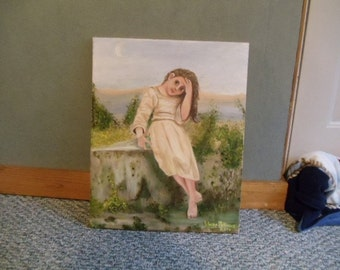 """Mirauder Girl Oil Portrait Painting 16""""  x  20"""", oil, portrait, mirauder, girl, painting"""