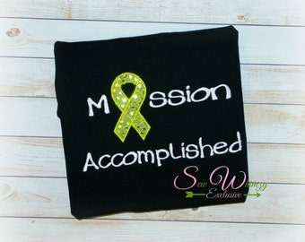 Cancer remission Appliqued Shirt - Woman's Cancer Embroidered Shirt, Breast Cancer, Woman's Survivor Shirt, Women, Mother, Wife