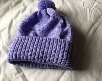 Machine knitted toddler hats