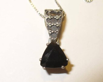 25% OFF SALE!  Tektite Pendant Necklace in Sterling Silver - Your Own Genuine Falling Star!