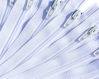 "6"" Craft Zippers-25 WHITE Ykk Wholesale Zippers ~ZipperStop Wholesale Authorized Distributor YKK®"
