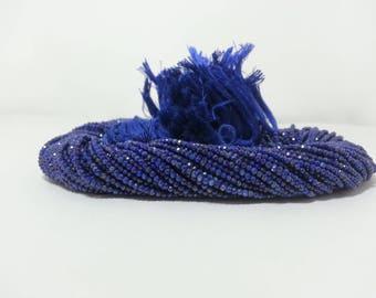 Natural Lapis Lazuli Micro Faceted Beads | Lapis Beads | Lapis Lazuli Beads | Blue Beads | Lapis Micro Beads | Lapis Faceted Rondelle Beads