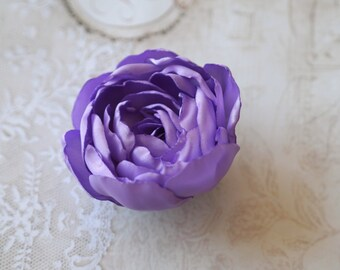 Lavender Hair Accessory, Lavender Hair Flower, Purple Flower Brooch, Purple Hair Clip, Violet Flower, Amethyst Purple Flower Hair Clip