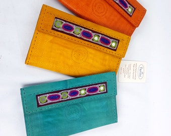 womens Bi fold wallet , Handmade real leather clutch, credit card wallet for women # Monedero de Mujer, iPhone wallet # gifts for her