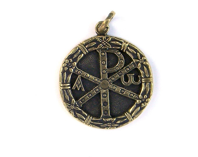 Bronze pendant chi rho 1 chi rho cross alpha and omega zoom mozeypictures Gallery