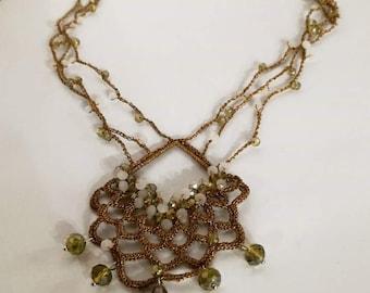 Jewel Textile Necklace