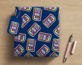 Brighton & Hove Gift Wrap and Tags x 2 designs - humorous Marmite and beans themed wrapping paper
