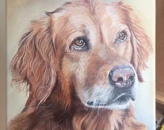 Custom Pet Portrait- Acrylic Painting. Pet painting. Dog painting. Dog portrait. Pet memorial.